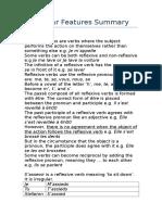 Grammar Features Summary