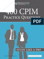400 CPIM Practice Questions Study Like A