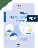 1307_DGCIS_Bilan Du Tourisme en 2012