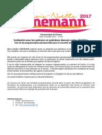 Communiqué de Presse - solidarité avec les policiers agressés à Viry-Châtillon