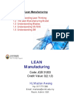 Lean Mfg Chapter 1 Overview of Lean