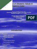 Obstetric Fistula Kashmir Shiekh WHO 2007