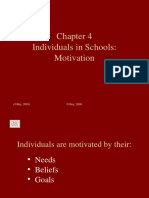 Ch4 Individual in School - Motivation
