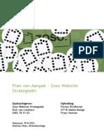 Plan Van Aanpak - Zoso