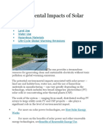 Solar - Environmental Impacts of Solar Power