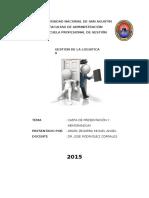 Carta de Presentacion y Memorandum
