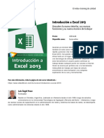 Introduccion a Excel 2013 by Blade