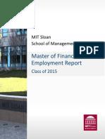 MFin 2015 Employment Report