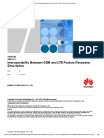 Interoperability Between GSM and LTE Feature Parameter Description