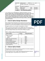 Example Column splice - non-bearing splice