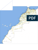 Carte routière du Maroc