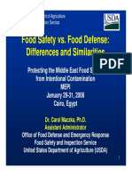 Food Safety vs Food Defense
