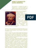 Maimonides o Gigante Do Judaismo Medieval