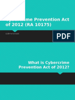 CyberCrime Prevention Act of 2012 (RA 10175)