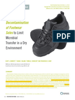 Chemical Decontamination of Footwear Soles to Limit Microbial Transfer in a Dry Environment