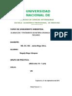 Eliminación y Tratamiento de Materia Orgánica de Un Centro Pecuario