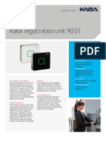 Kaba Registration Unit 90 01 Factsheet