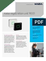 Kaba Registration Unit 90 01 Factsheet