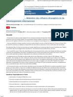Tunisie - France-Diplomatie - Ministère Des Affaires Étrangères Et Du Développement International