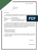 CV Dan Surat Lamaran PT Paragon Technology