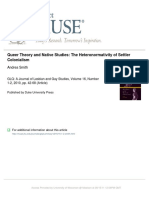 Queer Theory and Native Studies - Andrea Smith