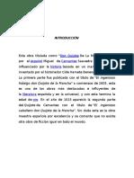 Analisis de La Obra Don Quijote