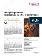 Psychoactive properties in culinary Spices