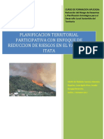 Planificación Territorial Participativa Con Enfoque de Reduccion de Riesgos en El Valle Del Itata. Final