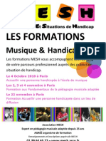 Affiche Formations MESH