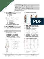 Anatomy 1.1 - Anatomicomedical Terminology