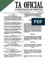 Sumario Gaceta Oficial 39.440