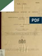 Archeological Survey of Ceylon -ANUAL REPORT 1905