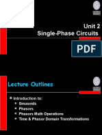 MDB1033 Phasor Single Phase Circuit