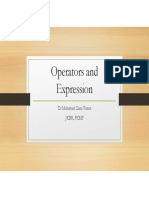 Operators and Expression