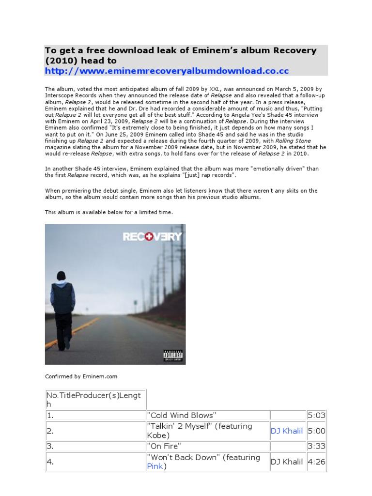 Download eminem relapse album | innovation policy platform.