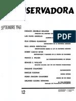 Revista Conservadora No. 12 Sep. 1961