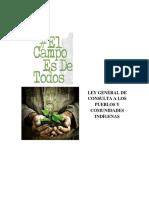 OCTUBRE 2016. Iniciativa de Ley General de Consulta a Los Pueblos y Comunidades Indígenas