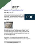 Golongan Mineral Sulfat Karbonat Dan Halida