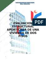 Evaluacion Estructural Aporticada de Una Vivienda de Dos Pisos