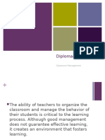 Classroom Management Diploma Do