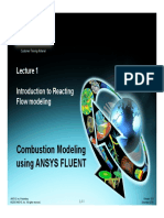 Combustion modelling using ansys fluent - introduction