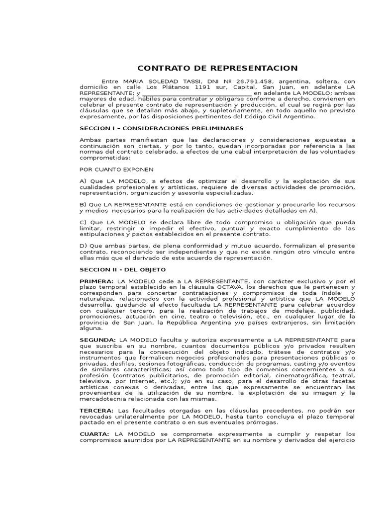 Magnífico Contratar Plantilla De Contrato Patrón - Ejemplo De ...