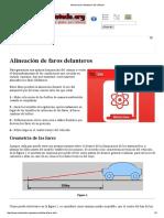 Alinear Faros Delanteros Del Vehículo