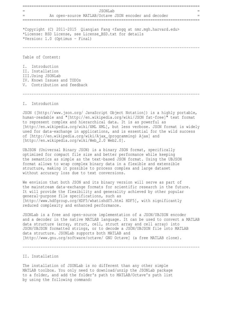 README txt | Json | Array Data Structure