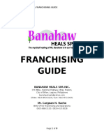Banahaw Heals Spa Franchising Guide 2016