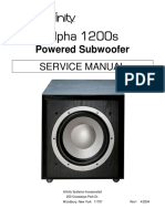 Infinity Alpha1200s Subwoofer ServiceManual