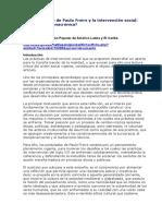 El Pensamiento de Paulo Freire y La Intervención Social
