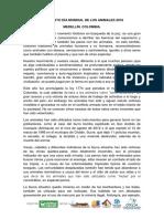 Manifiesto Día Mundial de los Animales, Medellín 9 de oct de 2016
