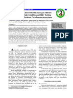 Comparative Evaluation of Broth and Agar Dilution Techniques Against P. Aeruginosa Pakistan J. Zool., Vol. 48(5), Pp. 1517-1522, 2016