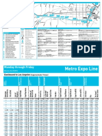 New Expo Line Timetable Effective Oct 23, 2016